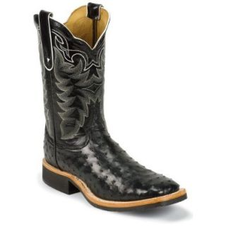Tony Lama Men's Full Quill Ostrich Cowboy Boot Square Toe: Shoes