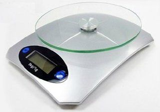 Digital LCD Electric Portable Glass Plate Kitchen Scales for Cooking Baking  Oz and Lb and Kg Kitchen & Dining