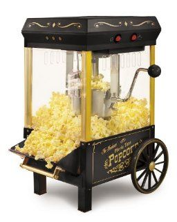 Nostalgia Electrics KPM 508BLK Vintage Collection Kettle Popcorn Maker, Black: Kitchen & Dining