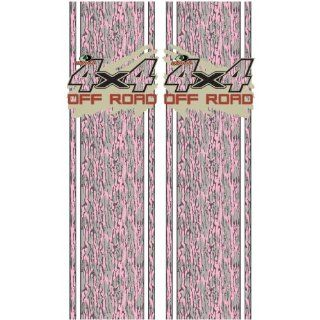 Mossy Oak Graphics 12002 BLP Bottomland Pink Rear Quarter Panel Graphics Kit with Mud Splash 4x4 Off Road Decal: Automotive