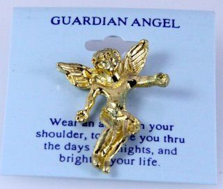 6030103 Guardian Angel Lapel Pin Brooch Tack Pin Christian Religious Jewelry: Brooches And Pins: Jewelry