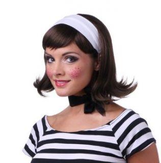 Brown Womens 50's Flip Housewife Halloween Costume Wig Clothing