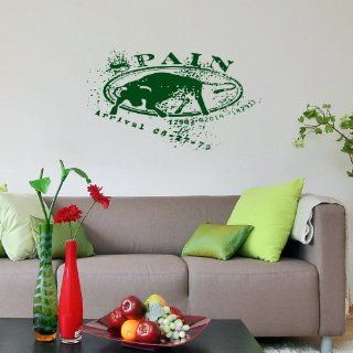 Housewares Modern Wall Vinyl Decal Stamp SPAIN Art Design Murals Interior Decor Sticker Removable Room Window (SV2550)