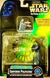 1997   Hasbro / Kenner   Star Wars  The Power of the Force   Emperor Palpatine Galactic Empire Action Figure   Electronic Power F/X   w/ Dark Side Energy Bolts & Remote Action   New   Out of Production   Limited Edition   Collectible Toys & Games