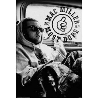 AQUARIUS Mac Miller Black and White Poster   Prints