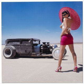 Bonneville Retro/modern Hot Rod Pin up Girl Garage/man Cave Metal Wall Art