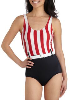 Tatyana/Bettie Page Umbrella Time One Piece  Mod Retro Vintage Bathing Suits