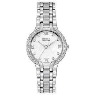 Ladies Citizen Eco Drive™ Bella Diamond Accent Watch with White