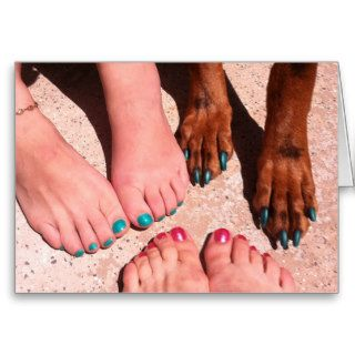 Peticure   Pedicure Spa Day Greeting Cards