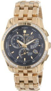 """Citizen Men's BL8042 54E """"Calibre 8700"""" Stainless Steel Diamond Accented Eco Drive Watch at  Men's Watch store."""