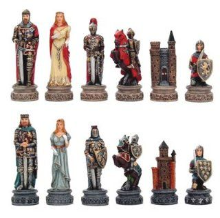 Medieval Times Chess Set Ii, King:3 1/4 inch: Toys & Games