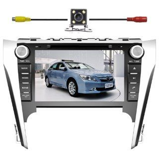 "BlueLotus� for Toyota Camry 2012 Asian Version In dash 8"" Touchscreen DVD GPS Navigation Tv Radio Bluetooth Steering Wheel Control RDS Sd/usb Ipod Av + Reverse Car Rear Camara + Free USA Map : In Dash Vehicle Gps Units : GPS & Navigation"