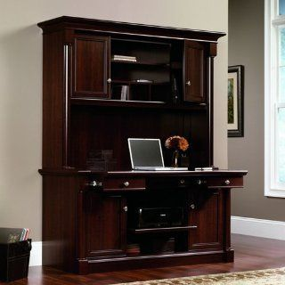 Palladia Laptop Credenza with Hutch   Sauder Office Furniture : Notebook Computer Stands : Office Products