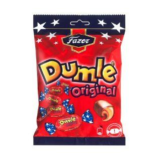 Fazer Dumle Original Soft Toffee Covered With Milk Chocolate 220g bag  Toffee Candy  Grocery & Gourmet Food