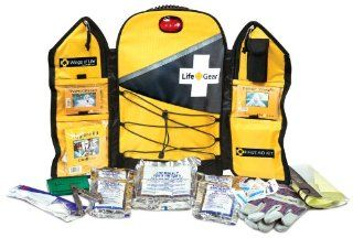Life Gear LG567 Wings of Life Emergency Survival Kit Backpack with 72 Hour Food and Water, Yellow   Bug Out Kit