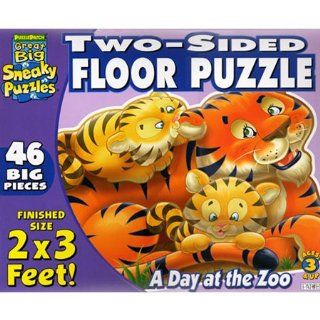 Two Sided A Day at the Zoo Floor Jigsaw Puzzle 46pc Toys & Games