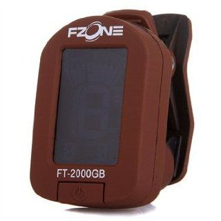 Fzone FT 2000GB Clip Guitar/Bass/Violin Tuner Coffee Musical Instruments