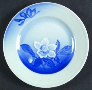 Bing & Grondahl Christmas Rose Dessert/Pie Plate, Fine China Dinnerware   White