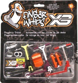 Finger Whips Pro Scooter Triple Pack: Toys & Games
