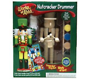 Masterpieces Works of Ahhh Nutcracker Drummer Wood Paint Kit: Toys & Games