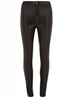 black high shine disco pants by jolie moi