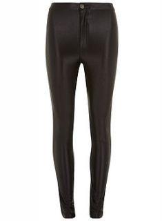 black high shine disco pants by jolie moi