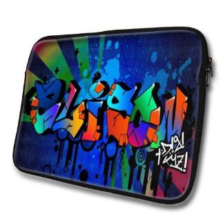 """Graffiti Names"" designed for Alison, Designer 14''   39x31cm, Black Waterproof Neoprene Zipped Laptop Sleeve / Case / Pouch.: Cell Phones & Accessories"