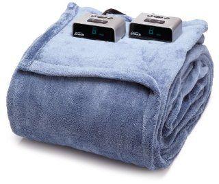 Sunbeam BW1211 030 596 Heated Electric Microplush Blanket, Full, Lagoon