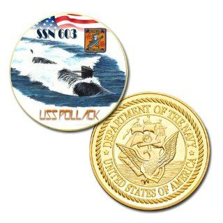 U.S Navy USS Pollack (SSN 603) printed Challenge coin