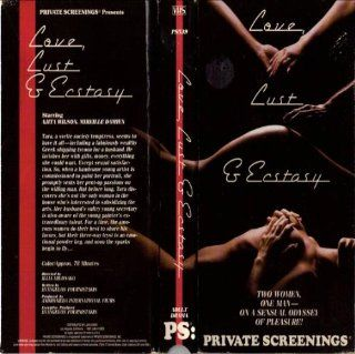 Love, Lust & Ecstasy Two Women, One Man   On A Sensual Odyssey Of Pleasure (Private Screenings) [VHS] Anita Wilson, Illia Milonako Movies & TV