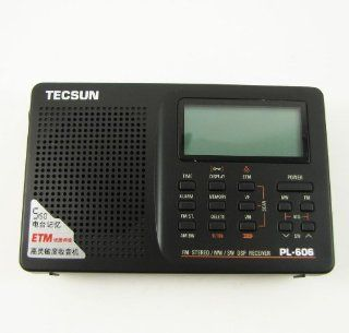 NEW Tecsun PL 606 Digital PLL Portable FM Stereo/LW/SW/M W Radio Receiver DSP  Shortwave And All Hazard Radios   Players & Accessories