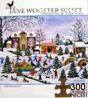 "JANE WOOSTER SCOTT AMERICAN FOLK ART PUZZLE ""SPIRITED SPRITES"" 300 OVERSIZED Pieces Toys & Games"