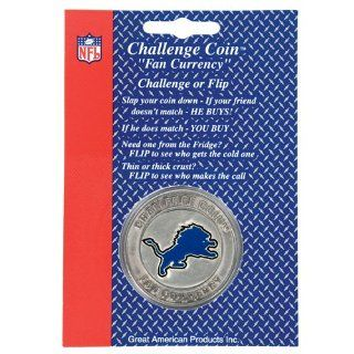 Detroit Lions Challenge Coin/Lucky Poker Chip  Sports & Outdoors