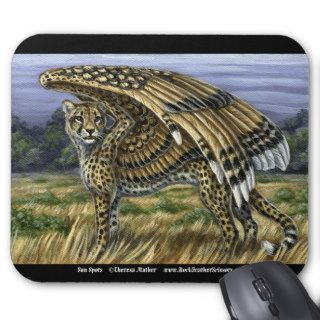 Sun Spots Winged Cheetah Mousepad