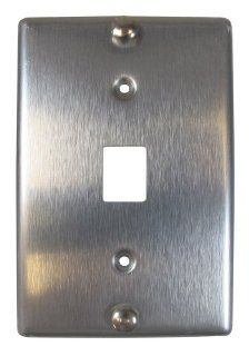 Allen Tel Products AT630A 6 Single Gang, 1 Port, 6 Position, 6 Conductor Wall Telephone Outlet Jack, Stainless Steel