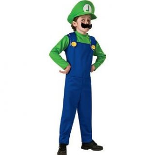 Super Mario Brothers Luigi Costume Boy: Clothing