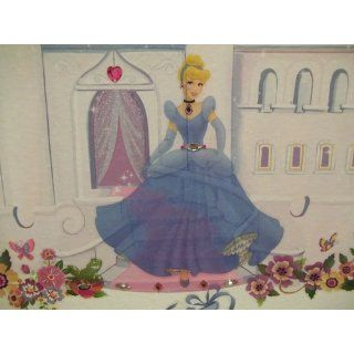 Roommates Rmk1470Scs Disney Princess Peel & Stick Wall Decals With Gems   Decorative Wall Appliques