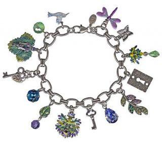 Kirks Folly Enchanted Forest Green Man Charm Bracelet —