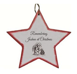 in loving memory personalised star by rose cottage