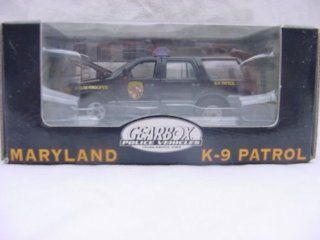 GEARBOX, 143 SCALE, DIE CAST METAL, MARYLAND STATE POLICE, K 9 PATROL, LIMITED EDITION FORD SUV Toys & Games
