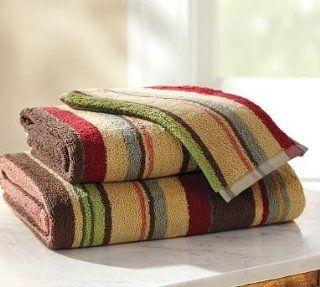 Pottery Barn Duncan Stripe 650 Gram Weight Bath Towels