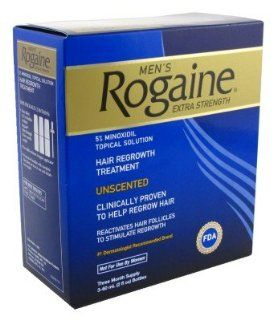 Rogaine Mens Regrowth X Strength 5 Percent Unscented 3 Month : Hair Regrowth Treatments : Beauty