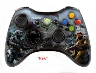 """""""Halo  """" skin , Three additional modes  (10 Modes Dual Rapid Fire +   Fast Aim Fire mode + Central Button's Illumination)   Wireless Original Microsoft controller  Xbox 360 (modded) ,the  Best  for MW1.2.3 , COD , BATTLEFIELD , HALO , other S"""