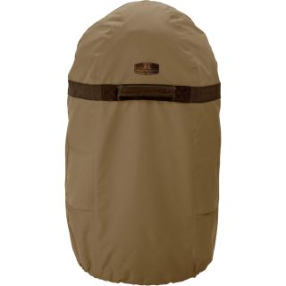 Classic Accessories Smoker Cover — Tan, Fits Large Round Fryers and Smokers up to 24in. Diameter x 46in.H, Model# 55-037-032401-00  Smokers   Accessories