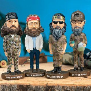 (Set) Duck Dynasty Jase, Willie, Phil & Si Bobber Bobblehead Reality TV Show : Bobble Head Toy Figures : Baby
