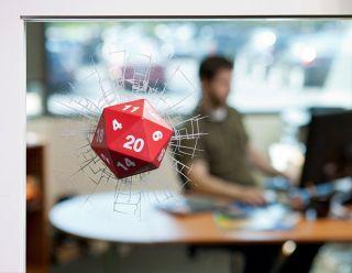 Critical Hit D20 3D Window Decal