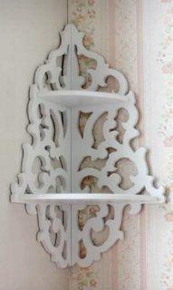 White open work Tip shelf Corner Rack shelf Creative Wall Decoration white : Baby