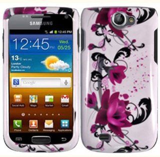 Samsung Exhibit 2 II T679 Design Cover   Purple Lily: Cell Phones & Accessories