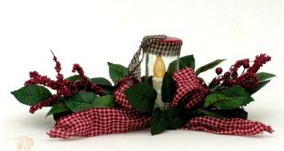 Fall Apples, Berries, and Leaves LED Table Centerpiece, 18x6x7 Inches   Table Toppers
