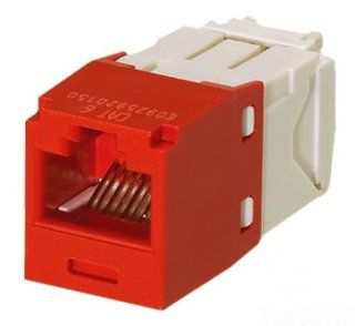 Panduit CJ688TGRD Category 6 8 Wire TG Style Jack Module, Red, 4 Pair: Home Improvement